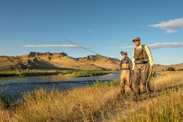 Outdoor Lifestyle Photography, Father & Son Fly Fishermen, Copyright Darrin Schreder