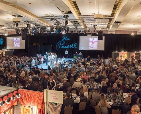 Panorama of Russell Live Auction.
