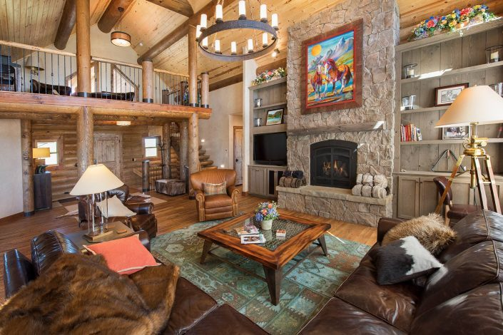 Architectural Photography ~ Great Room, Rock Ride Ranch, Cascade, MT. Copyright, Darrin Schreder