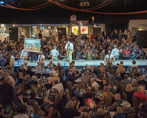 2017 Russell Live Auction Crowd
