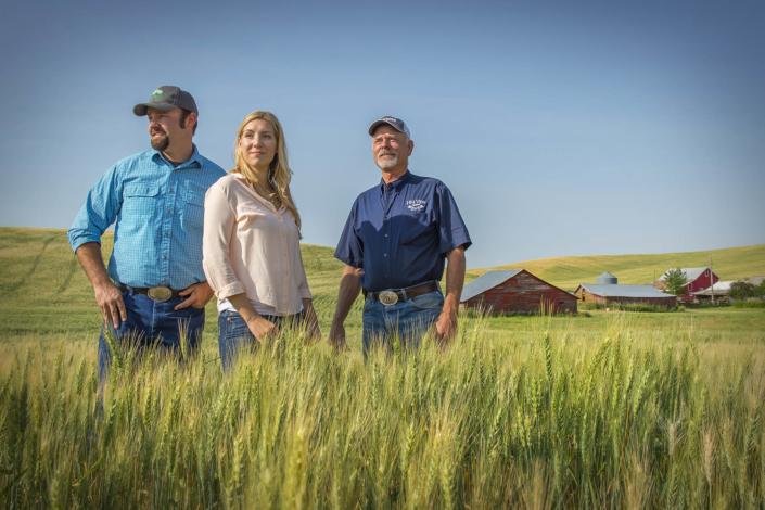 Corporate Photography. Wheat farmers in Eastern, WA